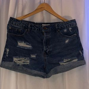 Distressed forever 21 jean shorts